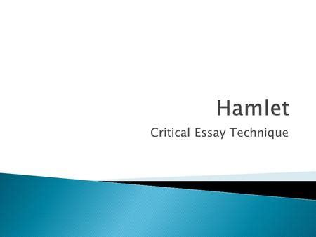 Example Essay on Hamlet - Good Example Papers
